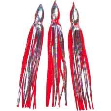 10 Stk Løse Blæksprutter - 12cm rød