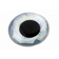 3D Epoxy Eyes - 6mm Silver