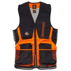 Browning Claybuster Shooting Vest Black/Orange
