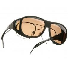Cocoon solbrille str. XL Amber glas.