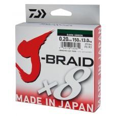 Daiwa J-braid X8 0,16mm 9.1kg chartreusse
