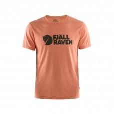 Fjallraven Logo T-Shirt - Rowan Red-Melange