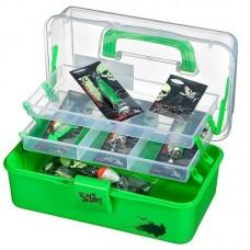 Fladen Grejbox med indhold - Grøn 28x16x13cm
