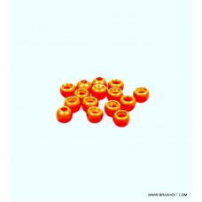 Futurefly Brass Beads 5mm - Fl. Orange