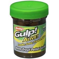 Gulp Alive Trout pellet garlic chartreusse