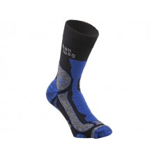 Hanwag Trek Merino Sock - Black/Royal Blue