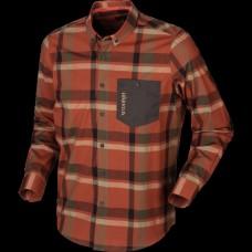 Harkila Amlet L/S Skjorte- Dark Burnt Orange Check
