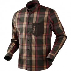 Harkila Amlet skjorte Burgundy/Brown