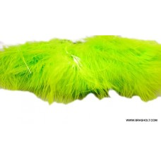 Marabou blood quill Chartreuse
