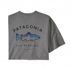 Patagonia Framed Trout Responsibili-Tee® - Grå