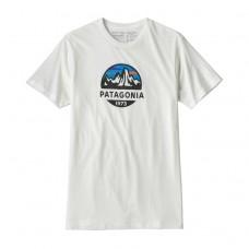 Patagonia T-Shirt Fitz Roy Scope Organic Hvid
