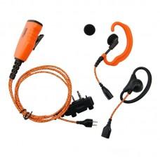 Pro Equip U610LA Orange Icom Headset m/Micro 3 i 1