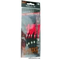 Sabiki makrel rig fluo Red ks07062