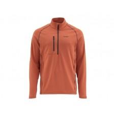 Simms Fleece Midlayer Top - Simms Orange