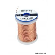 Veevus Oval tinsel #L Copper