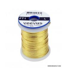 Veevus Oval tinsel #L Gold