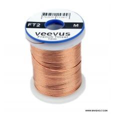 Veevus Oval tinsel #M Copper